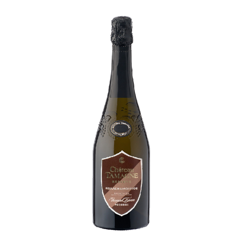 Bubbly Reserve Extra Brut Rose 2014 of Château Tamagne from Russia