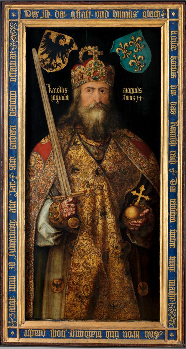 Franconian king Charlemagne