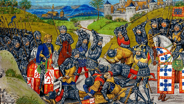 Battle of Aljubarrota at Alcobaca