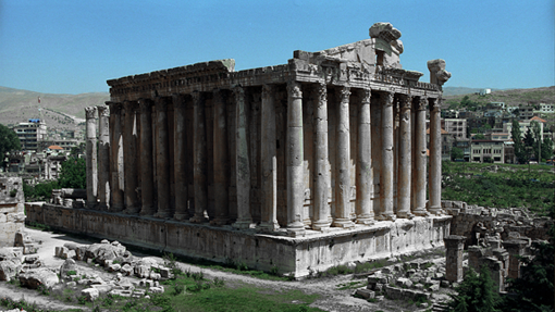 Bacchus Temple in Baalbek