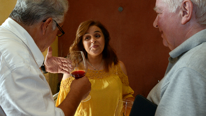 Roula Ghantous Abu Khater mit Kelly Khaled und Rudolf Knoll