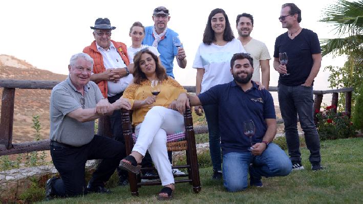 Libanesisches Weingut Coteaux du Liban mit Rudolf Knoll, Lisa Treutmann, Janek Schumann, Peer Holm und Serge Khaled