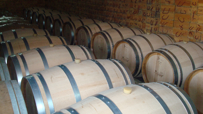 Barrels of Chateau Heritage