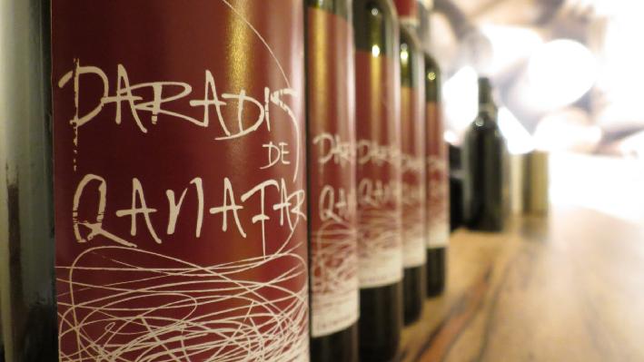 Rotweinflaschen von Chateau Qanafar