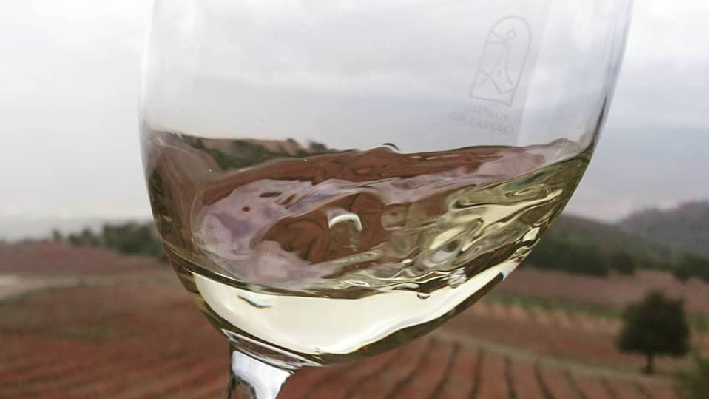 Weinglas von Chateau Qanafar