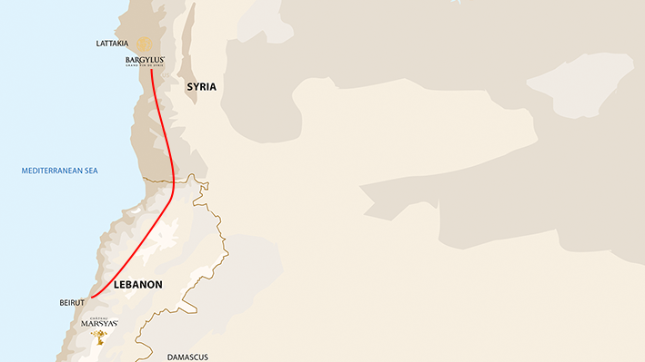 Map of Syria & Lebanon